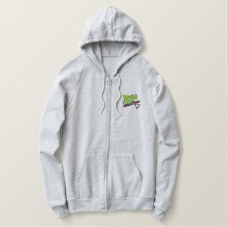 Font du ski nautique le logo sweatshirt à capuche avec brodé