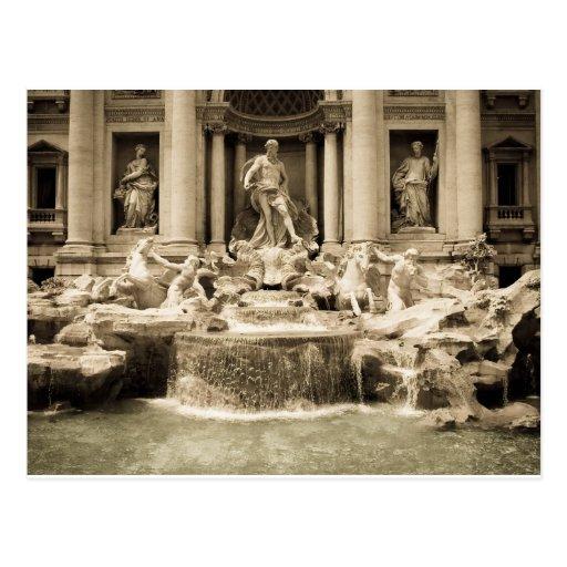 Fontaine classique de TREVI, Rome Carte Postale