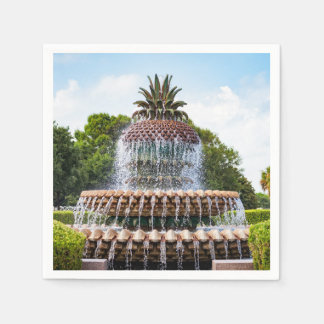 Fontaine d'ananas à Charleston, Sc Serviette Jetable