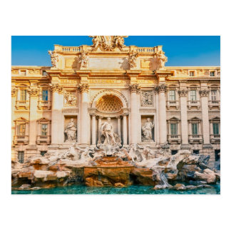Fontaine de TREVI à la carte postale de Rome