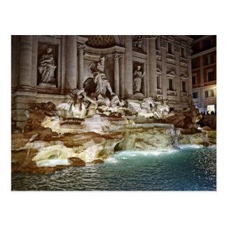 Fontaine de TREVI - carte postale de Roma, Italie