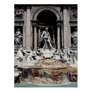 Fontaine de TREVI, construite 1732-62 Carte Postale
