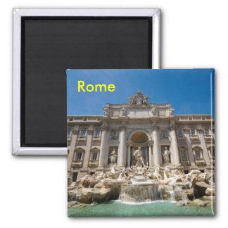 Fontaine de TREVI de Rome Magnet Carré