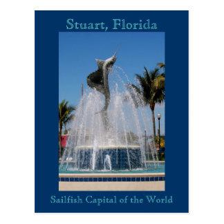 Fontaine d'eau de pélerin de carte postale Stuart,