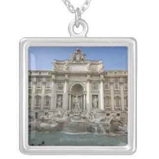 Fontaine historique de TREVI à Rome, Italie Pendentif Carré
