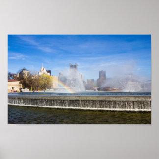 Fontaines de parc d'état de point, Pittsburgh, PA Poster