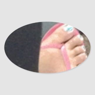 FOOT SLAVE OVAL STICKERS