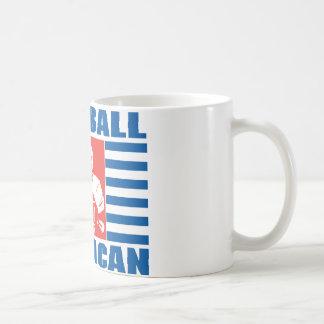 Football américain mug blanc