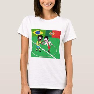 """FOOTBALL BRESIL PORTUGAL """"RESPECT"""" T-SHIRT"""