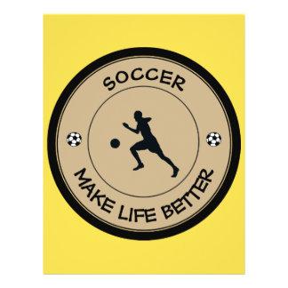 Footballeur Prospectus 21,6 Cm X 24,94 Cm