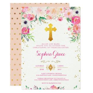 Foral et invitation croisée de baptême d'or