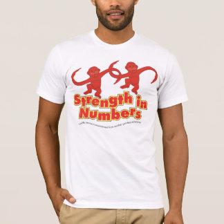 Force dans le T-shirt de nombres