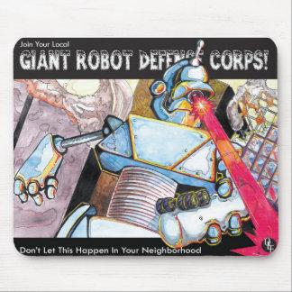 Force de défense géante de robot tapis de souris