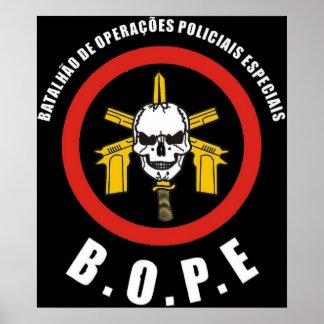 Force de police spéciale de BOPE Tropa De Elite Br Posters
