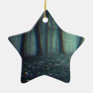forêt 3D Ornement Étoile En Céramique
