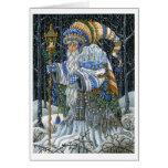 Forêt bleue Père Noël Carte De Vœux