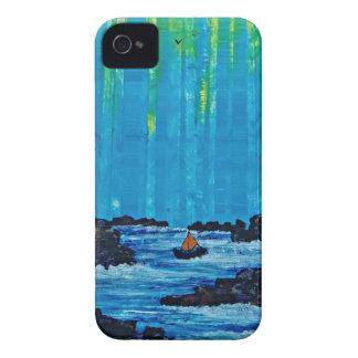 Forêt brumeuse géante par la rivière coque Case-Mate iPhone 4