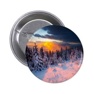 Forêt d hiver badges avec agrafe