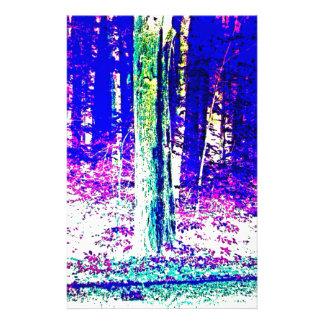 Forêt d hiver papier à lettre personnalisé