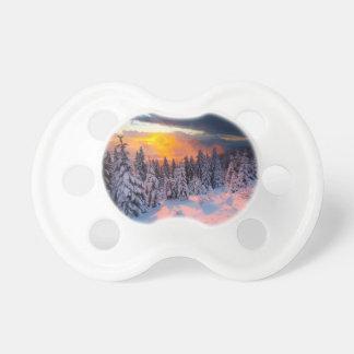 Forêt d hiver tétine pour bébé