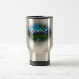 Forêt d'arbres du courant | de paysage de montagne mug de voyage
