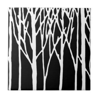 Forêt de bouleau par des poivrons de Leslie Petit Carreau Carré