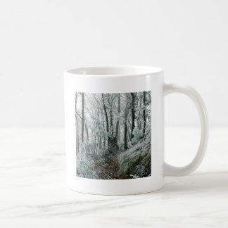 Forêt de Freezed de scène d hiver Tasse
