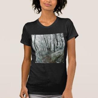 Forêt de Freezed de scène d hiver T-shirts