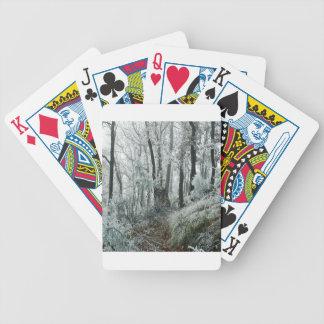 Forêt de Freezed de scène d'hiver Jeu De 52 Cartes