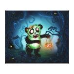 Forêt de Halloween de panda de zombi Toiles Tendues