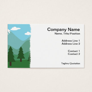 Forêt de montagne cartes de visite