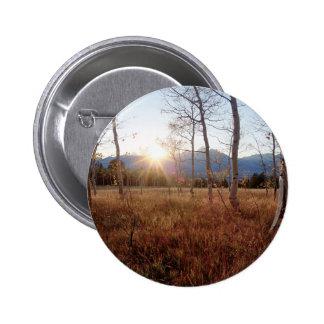 Forêt de Sun d'hiver d'arbres de nature Badge Avec Épingle