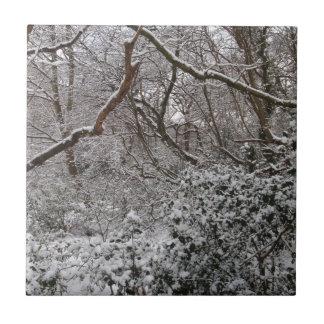 Forêt d'Epping en hiver Carreau En Céramique