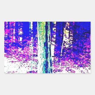 Forêt d'hiver sticker rectangulaire