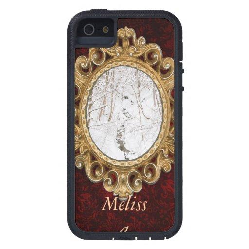 Forêt d'hiver avec un courant coques Case-Mate iPhone 5