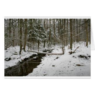 Forêt d'hiver cartes de vœux