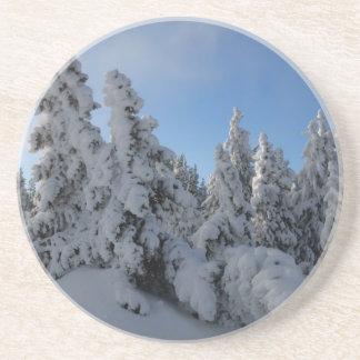 Forêt d'hiver dessous de verre