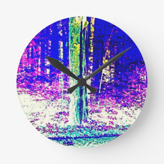Forêt d'hiver horloges murales