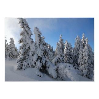 Forêt d'hiver faire-part personnalisables