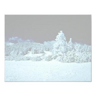 Forêt d'hiver faire-part