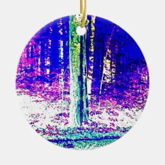 Forêt d'hiver décoration de noël