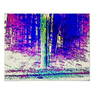 Forêt d'hiver affiche