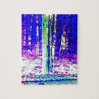 Forêt d'hiver puzzle avec photo