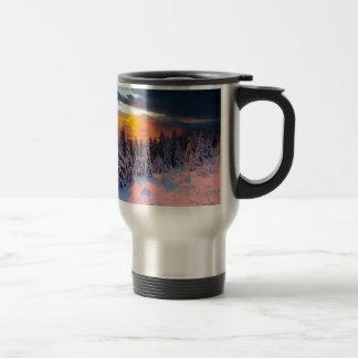 Forêt d'hiver tasse à café