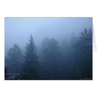 Forêt d'octobre carte de vœux
