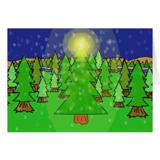 Forêt du pays des merveilles d'hiver carte de vœux