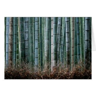 Forêt en bambou, Japon Cartes De Vœux