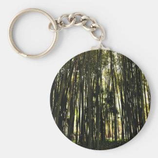 Forêt en bambou porte-clé rond