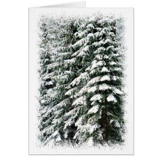 Forêt en hiver cartes de vœux