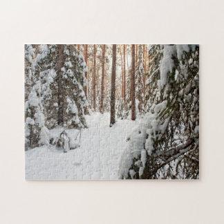Forêt en hiver puzzles